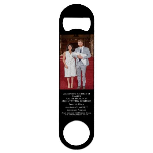 Royal Baby Master Archie Harrison Mountbatten-Windsor Stainless Steel Beer Bottle Opener - Large